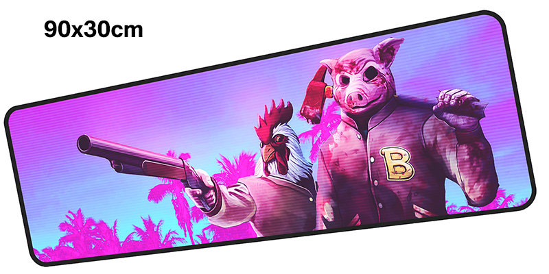 hotline miami mousepad gamer 900x300X3MM gaming mouse pad large Gorgeous notebook pc accessories laptop padmouse ergonomic mat