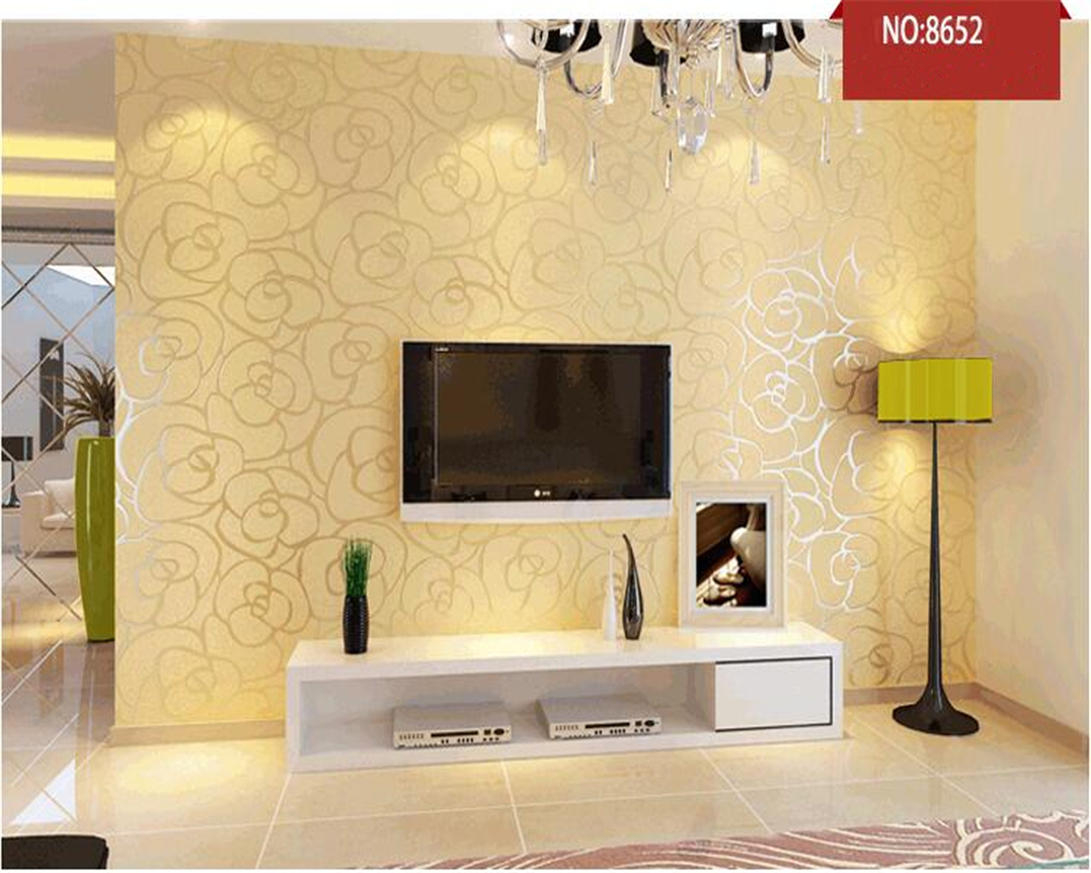 beibehang Home improvement  non-woven wallpaper rose Tv background wall bedroom  living room wallpaper papel de parede free shipping european tv background wall painting non woven wallpaper living room wallpaper modern rose wallpaper mural
