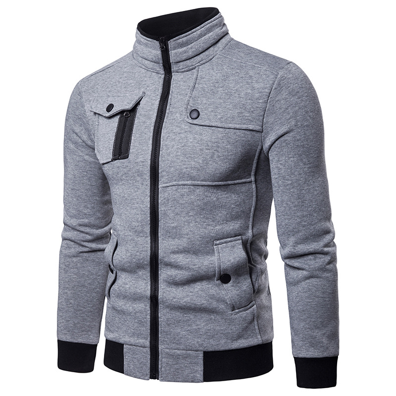 Irregular 4 pocket Designed Jacket Men 2018 Fashion Stand Collar Zipper Cotton Casaco Masculino Casual Hiphop Jackets Coats Mens in Jackets from Men 39 s Clothing