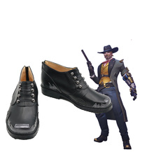 OW Jesse McCree Cosplay Shoes Boots Custom Made Halloween