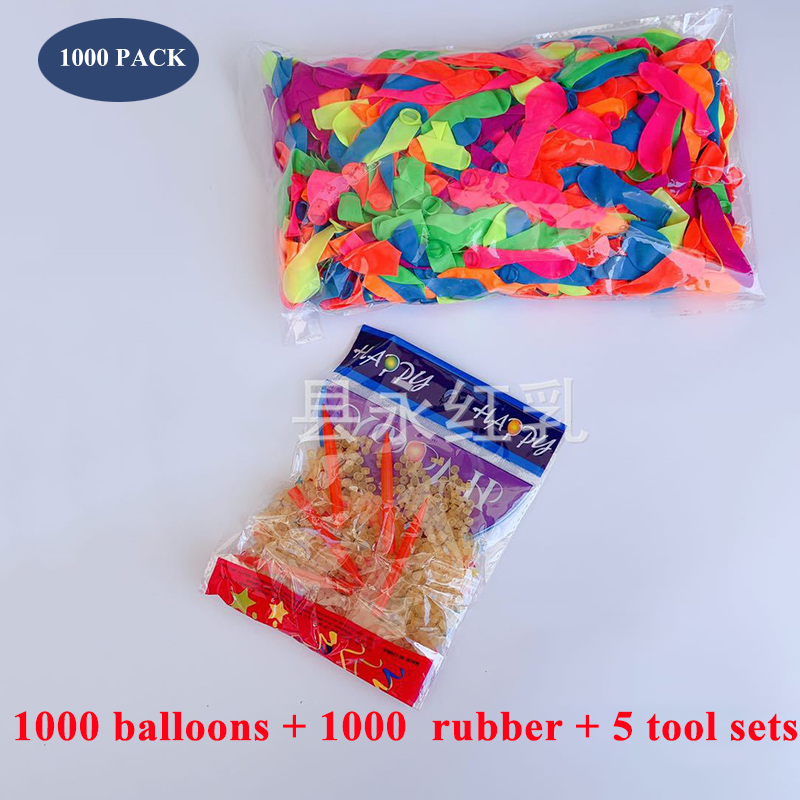 1000Pcs Water Balloons Supplementary Package Toys Magic Summer Beach Party Outdoor Filling Water Balloon Bombs Toy for Kid Adult(China)