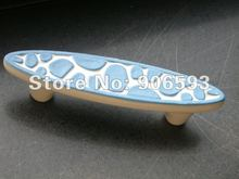 Porcelain sweet blue speckle cartoon cabinet handle\12pcs lot free shipping\porcelain handle\furniture handle