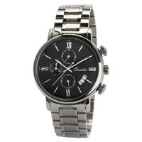 Fashion Business Men Stainless Steel Multifunction Calender Quartz Wrist Watch SANWOOD