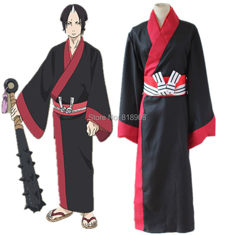 Japanese Anime Hoozuki no Reitetsu Hoozuki Kimono Cosplay Costume anime cosplay Halloween costume party clothes