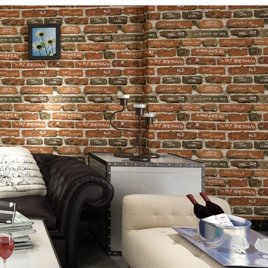 Wallpaper Rolls Sheets Home Garden 3d Rustic Vintage Brick Wallpaper Living Room Waterproof Wall Sticker Home Decor Adrp Fournitures Fr