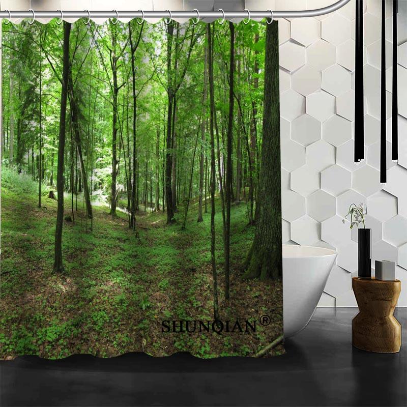 Bathroom Curtains forest Shower Curtain Custom Shower Curtain Waterproof Polyester Fabric Curtain For Bathroom