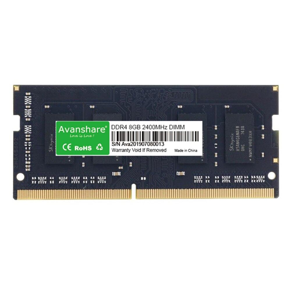 Avanshare DDR4 mémoire RAM 4GB ddr4 8gb 16GB 2400MHz RAM pour ordinateur portable Memoria Ram DDR4 livraison gratuite par Ali express