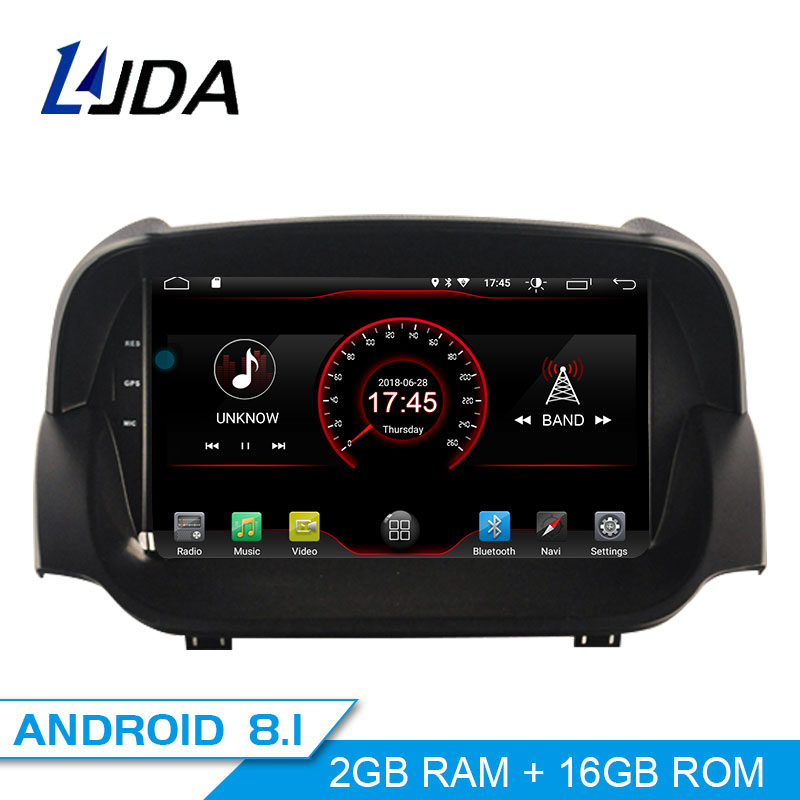 LJDA Android 8.1 Car DVD Player For Ford ECOSPORT 2013-2016 GPS Navigation 2 Din Car Radio Multimedia WIFI Stereo IPS Headunit