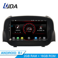 LJDA Android 8.1 Car DVD Player For Ford ECOSPORT 2013 2016 GPS Navigation 2 Din Car Radio Multimedia WIFI Stereo IPS Headunit