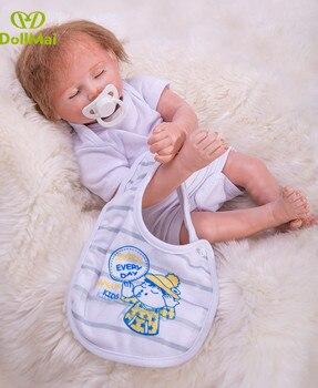 Muñecas reborn dollai niños 50cm silicona muñeca reborn real ture bebés recién nacidos vivos niños Regalo de Cumpleaños bebés reborn