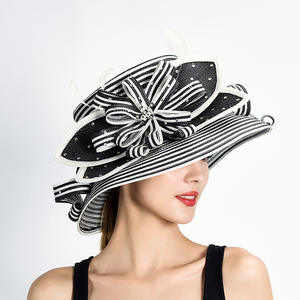 2ad31974096 Wedding Kentucky Derby Church Downton Abbey Feather Braided Hat Fancy Hat  Races Hat S10-3704