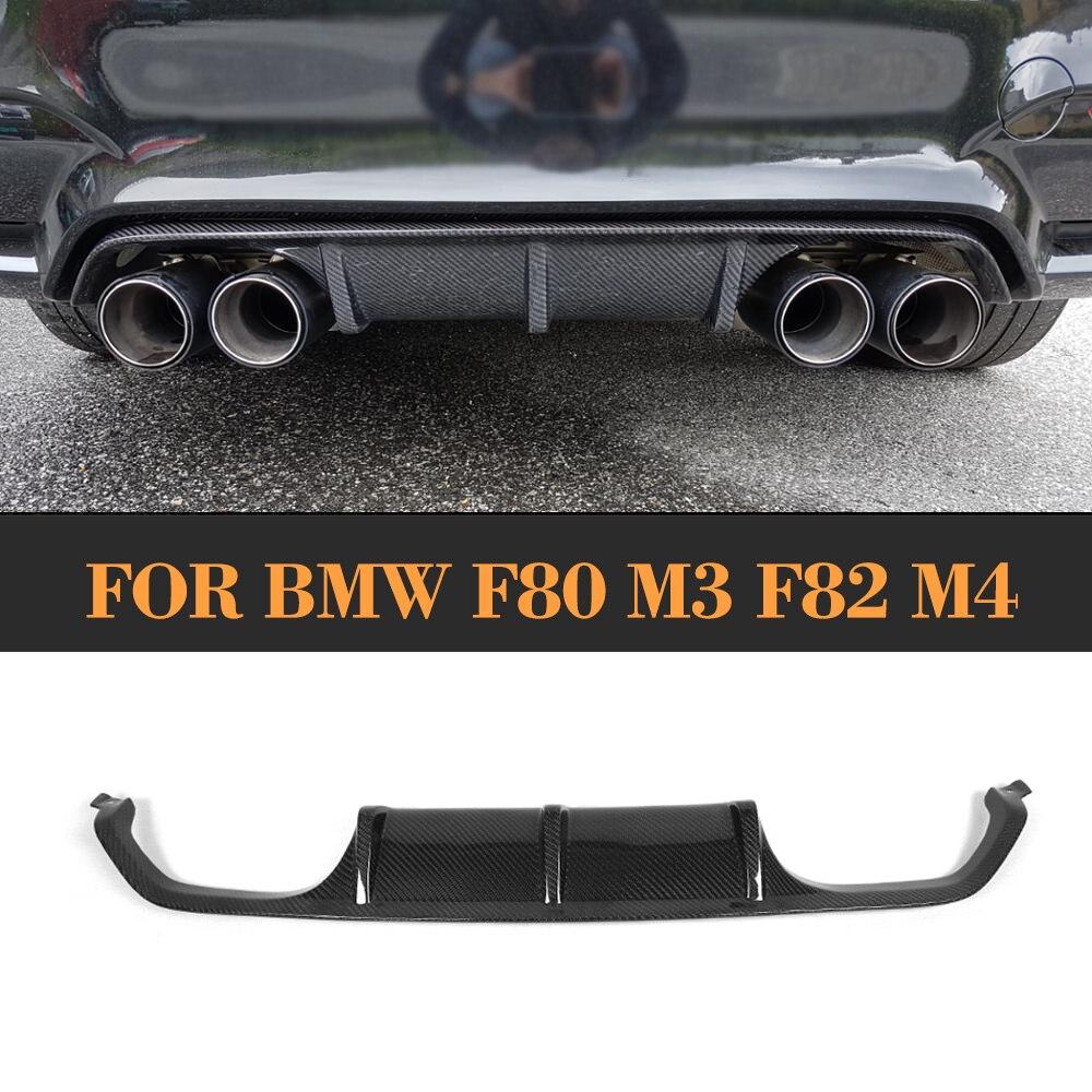 ᗕcarbon Fiber Auto Rear Bumper Lip Diffuser For Bmw F80 M3 F82 F83