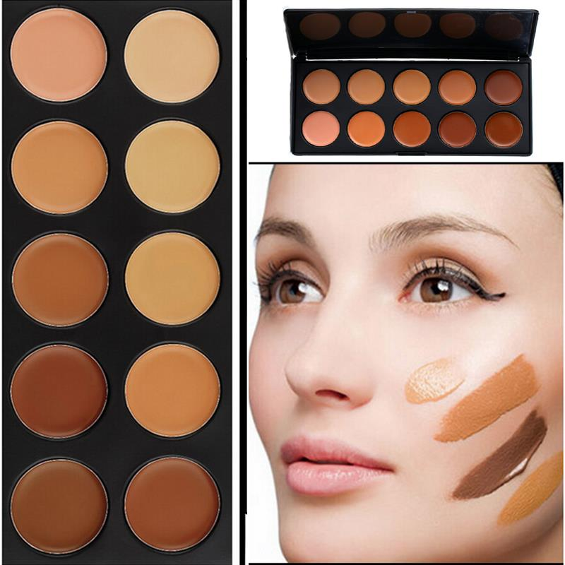 Professional Face Contouring 10 Colors Cream Contour Palette Concealer Foundation Makeup Base Shade & Light Camouflage
