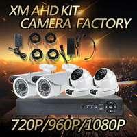 4CH AHD Security Camera System,1080N DVR Recorder Kit 720/960/1080P AHD Camera Optional
