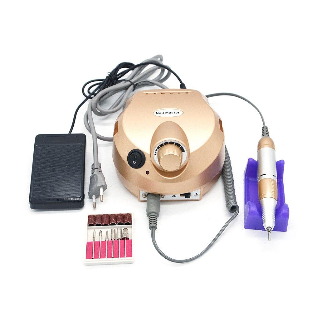 35000RPM متعددة الوظائف مانيكير باديكير عدة آلة حفر ملف كهربائي مسمار الفن الملمع أداة Accessorise المعدات-في أداة العناية بالقدم من الجمال والصحة على  مجموعة 1