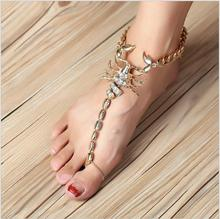2017 Hansel & Wang Scorpion Ankle Barefoot Sandals Foot Jewelry Leg New Anklets For Women To Beach Chain Ankle A001