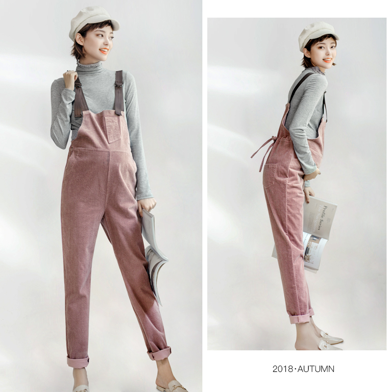 2018 winter rompers womens jumpsuits casual maternity clothings pregnant pants plus pregnancy trousers bottoms overalls