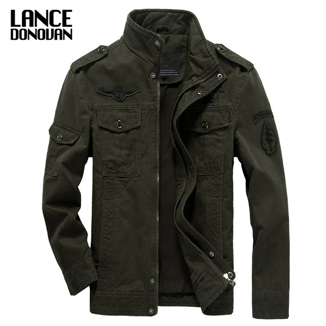 Mens Green Khaki 3 colors Military jacket winter Cargo Plus size M-XXXL 5XL 6XL Casual man jackets Army clothes brand