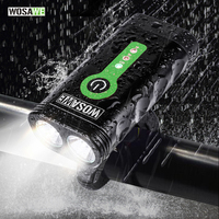 WOSAWE USB Rechargeable Bicycle Flashlight 2400 Lumens With Built In Li Batteries Bike Light 2 XML