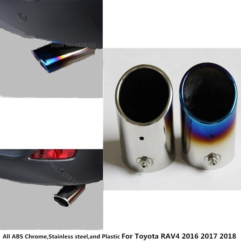 1 Pcs Car Exhaust Muffler Tail Pipe Tip Tailpipe For Toyota Rav4 2016 2017 2018