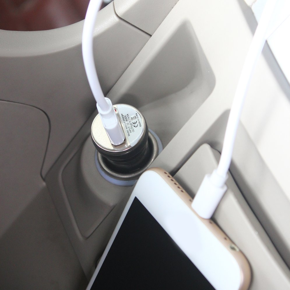 USB <font><b>Car</b></font> <font><b>Charger</b></font> Charging Power <font><b>Adapter</b></font> Input 12-24V DC Output 5.0V 1000mA for Apple iPod Touch For iPhone 4 3G 4G 4S image