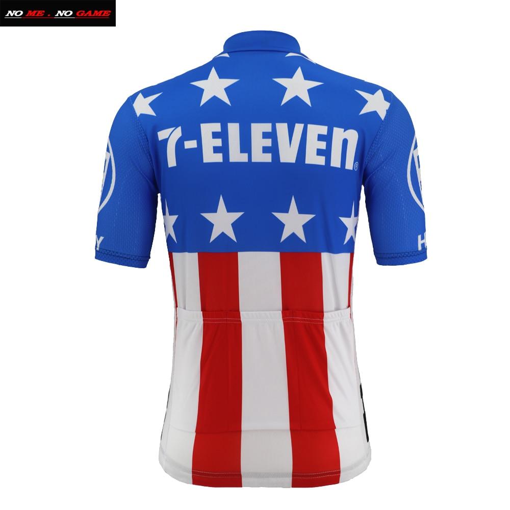 7 Eleven 11 USA Blue Retro Cycling Jersey