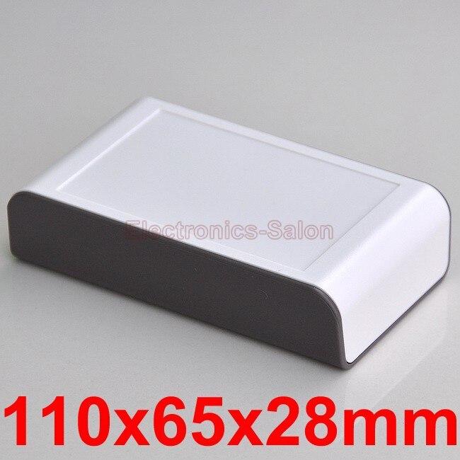 Desktop Instrumentation Project Enclosure Box Case, Brown-White, 110x65x28mm.