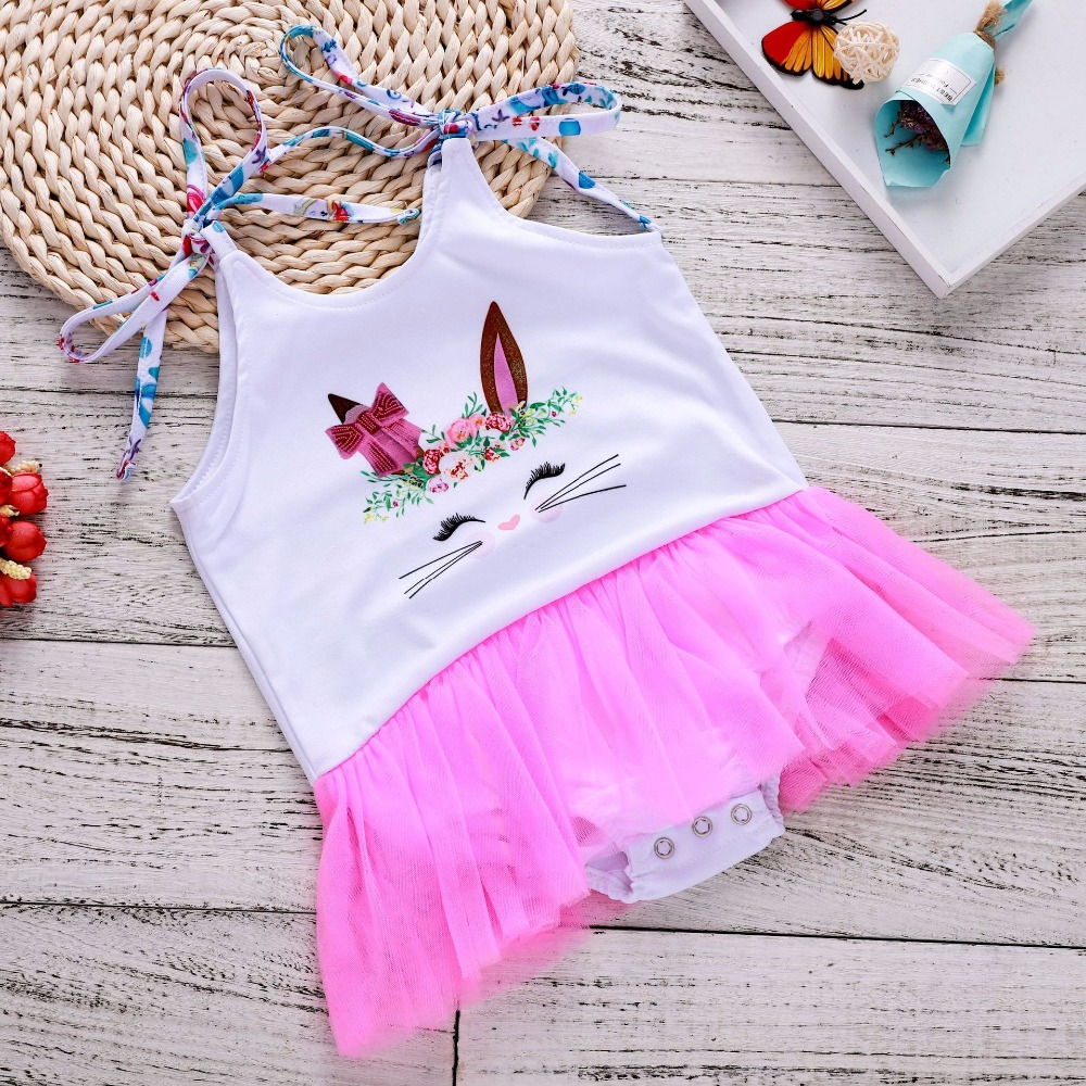 Summer Romper Baby Girl Onesie Girl Clothes 2 Years Infant Girl 1St Birthday Outfits Infant Girl Clothing Newborn Clothes Rabbit