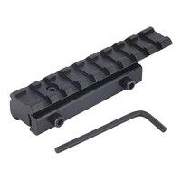 Caça ao ar livre acessórios 11mm a 20mm de encaixe weaver picatinny trilho adaptador conversor montar escopo base engrenagem militar scope base picatinny rail adapter weaver picatinny rail -