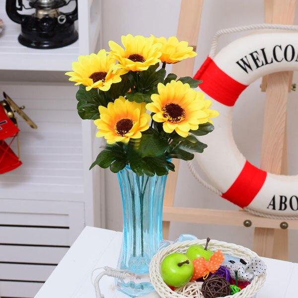 1 무리 7 머리 인공 해바라기 Posy 꽃다발 홈 기념 - 휴일 파티 용품