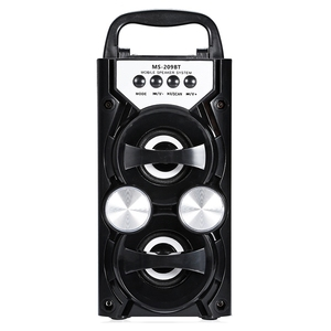 Image 1 - Heißer Tragbare Ms 209Bt Karte Wireless Bluetooth Lautsprecher Fm Radio Outdoor Lautsprecher Audio High Power Tf Usb Musik Lautsprecher