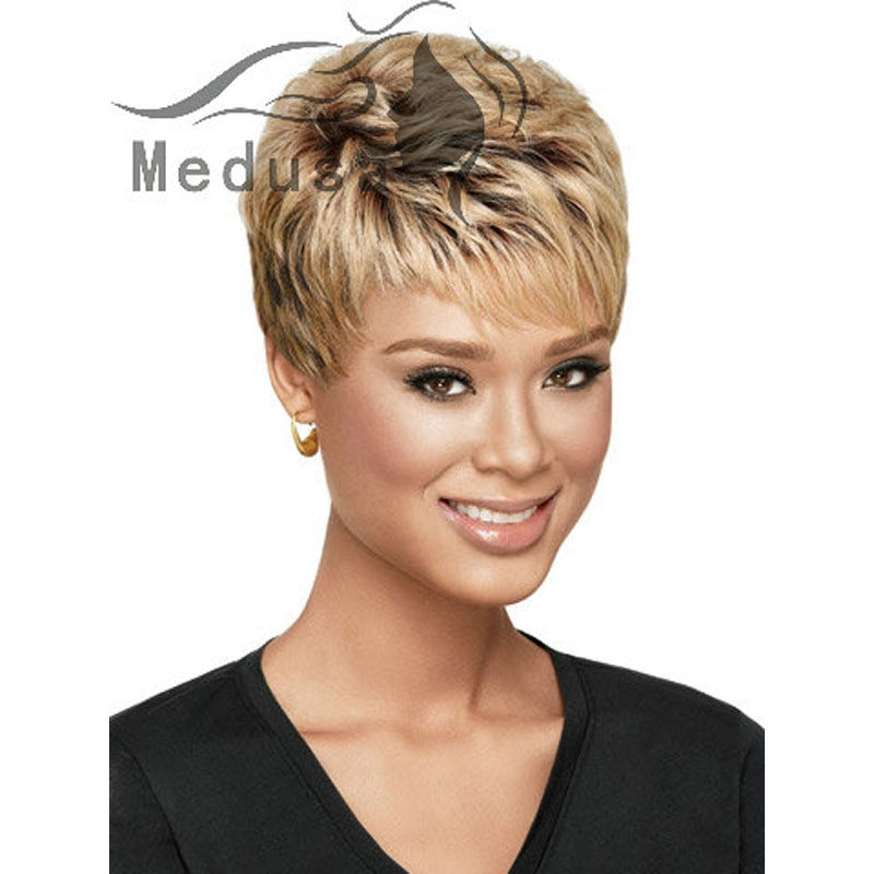Medusa hair products: Afro pixie cut style Short wavy