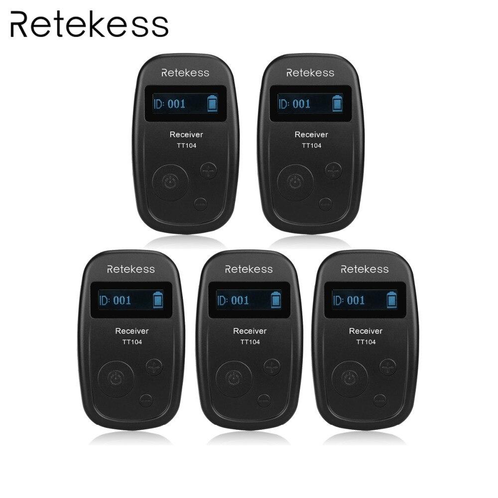 Retekess 5pcs TT104 UHF Ricevitore Wireless per il Sistema di Guida Senza Fili Riunioni Chiesa Sistema di Interpretazione Simultanea-in Microfoni da Elettronica di consumo su AliExpress - 11.11_Doppio 11Giorno dei single 1