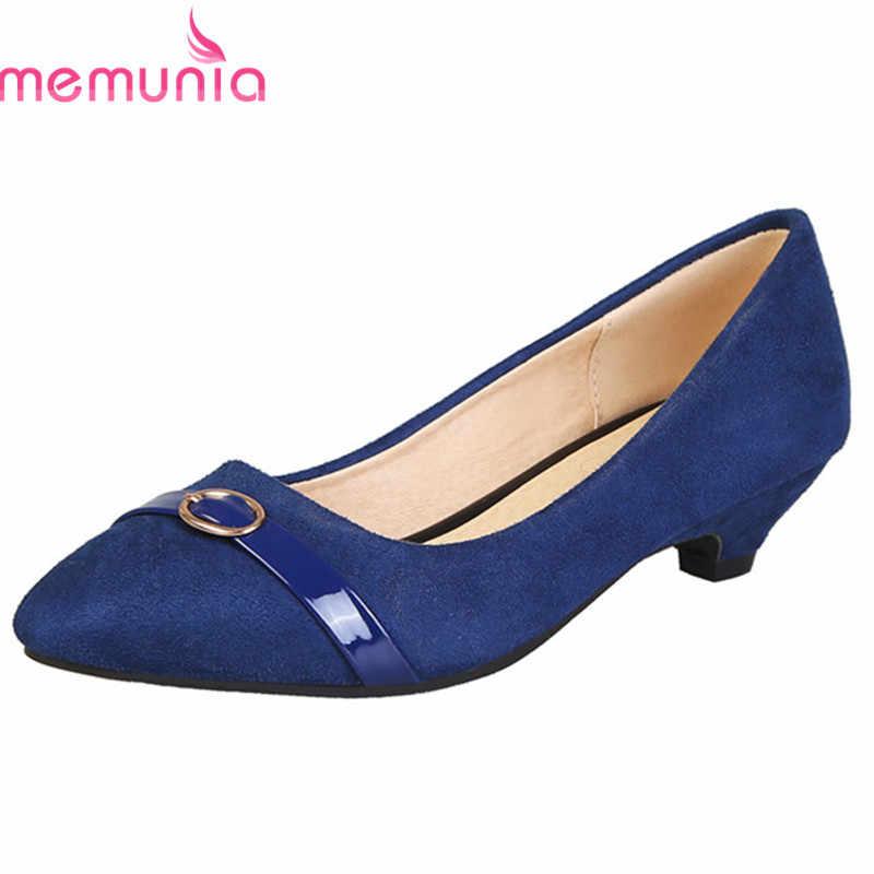 MEMUNIA 2020 büyük boy 48 kadın pompaları akın sivri burun ilkbahar yaz düşük topuklu ayakkabılar rahat şık elbise ayakkabı kadın