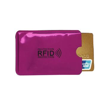 2PC Anti Rfid etui na karty kredytowe bankowa karta identyfikacyjna pokrowiec Holder Identity futerał ochronny przenośny wizytownik tanie i dobre opinie weduoduo Metalowe Unisex CN (pochodzenie) Stałe H042 Id posiadacze kart Nie zamek Moda Pillow Karta kredytowa metallic