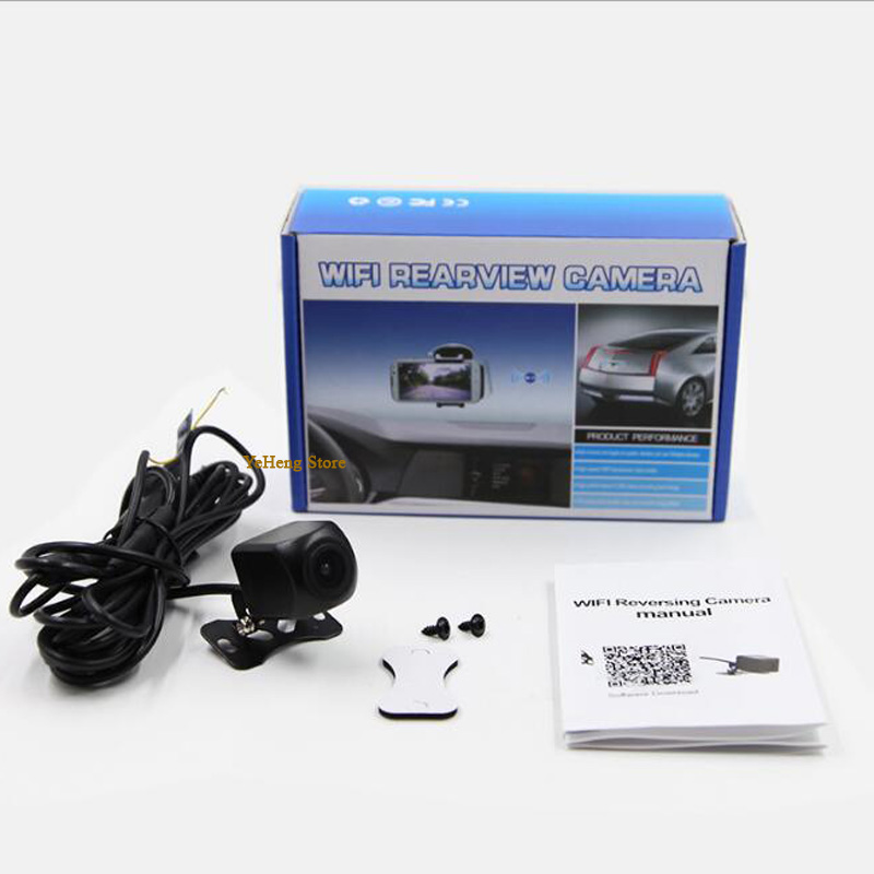 WIFI wireless hd camera 2017 New Intelligent Dynamic Trajectory Tracks Rear View Camera for Android+iOS parking camera detector car trajectory camera for daewoo gentra kalos tosca winstorm hd rear view reverse camera intelligent dynamic parking line