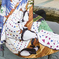 Venta caliente de las borlas del pingüino de la historieta mujer hijab chales bufanda/bufandas pashmina pañuelo bufanda de seda Envío Libre 10 unids/lote