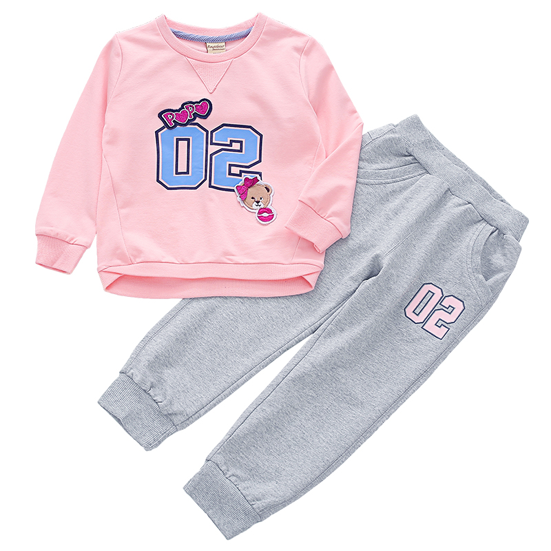 Brand Design Spring autumn top and pants Children clothing set School clothes for girls 2 3 4 5 6 7 8 9 years old Girls clothes girls clothes 2017 autumn spring new fashion brand children s clothing for 2 3 4 5 6 7 8 9 10 years old kids tops tee and pants