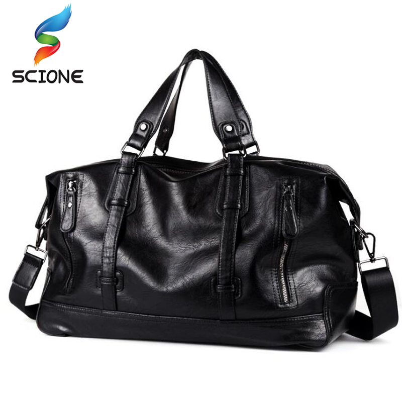 Outdoor Men Sports Fitness Training Shoulder Bags Classic Soft PU Leather Fitness Gym Bags Messenger Bags Travel Duffle Handbags professional sports gym bag outdoor men women travel handbag luggage duffle bags multifunctional fitness training shoulder bags