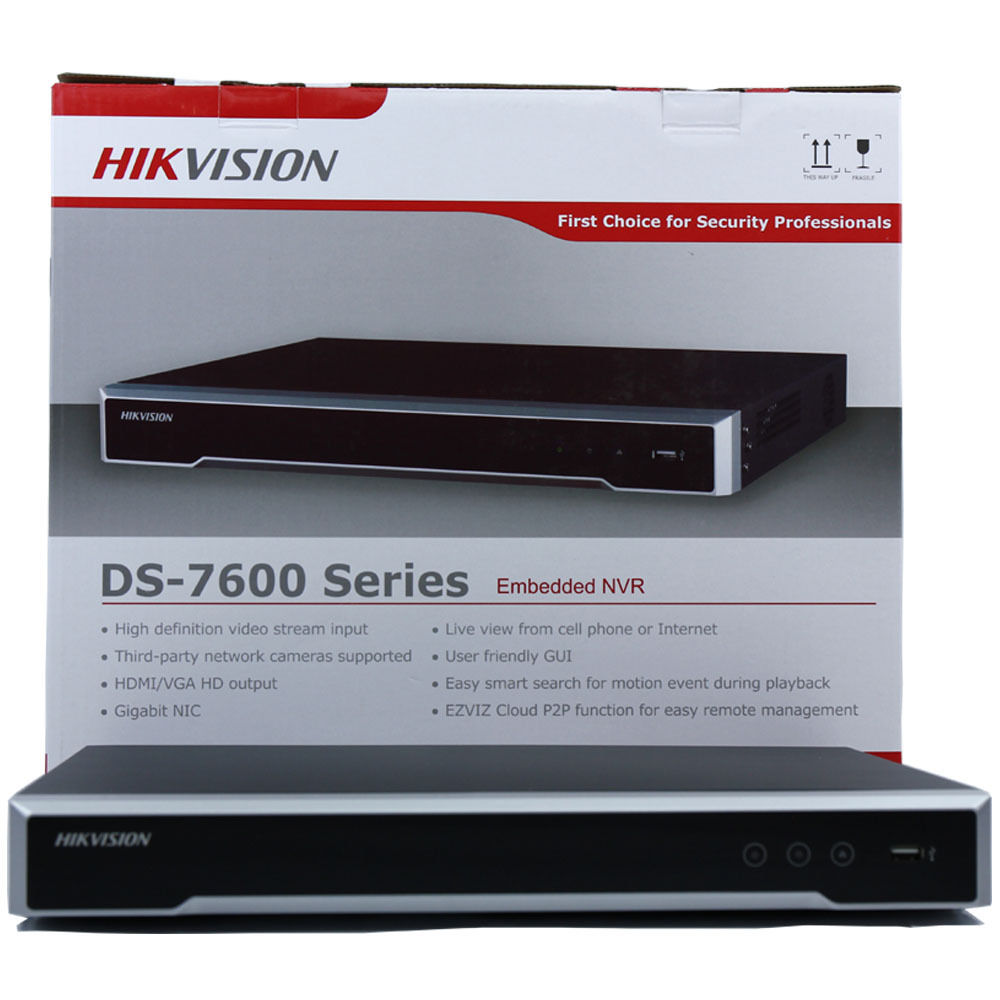 Hikvision 4 8 16POE ports 16ch NVR with 1 2SATA ports plug play NVR H 265