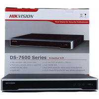 Hikvision DS 7600NI K2/4/8/16P 16POE ports 16ch NVR with 2SATA ports plug & play NVR H.265