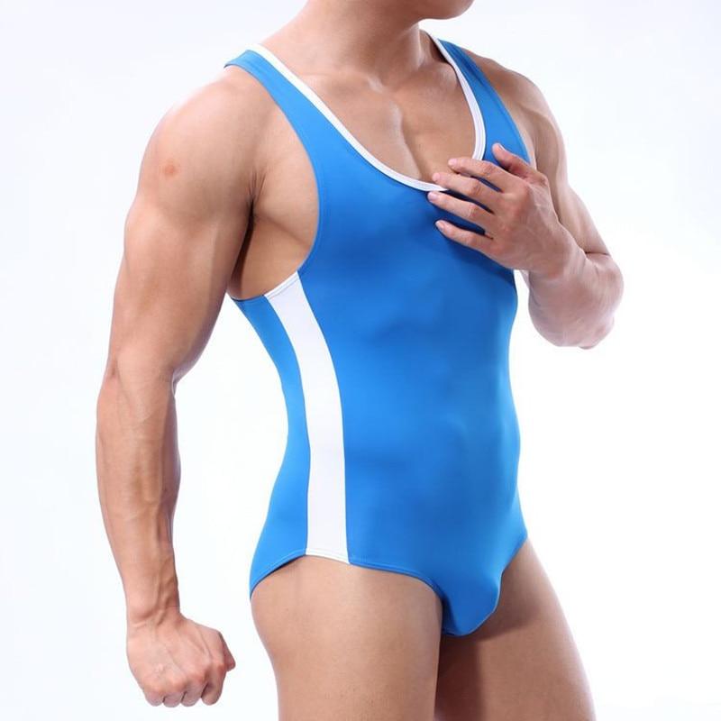 Brand Men Swim Body öltöny szexi férfi fürdőruha Meleg táska fürdőruha Surf Board Beach Sport jumpsuit nadrág