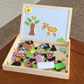 Los Juguetes del bebé de Usos Múltiples Caja de Rompecabezas Magnético Animales Juguetes De Madera Montessori de Juguetes Educativos de Aprendizaje Estudio Mesa de Dibujo Infantil de Regalo