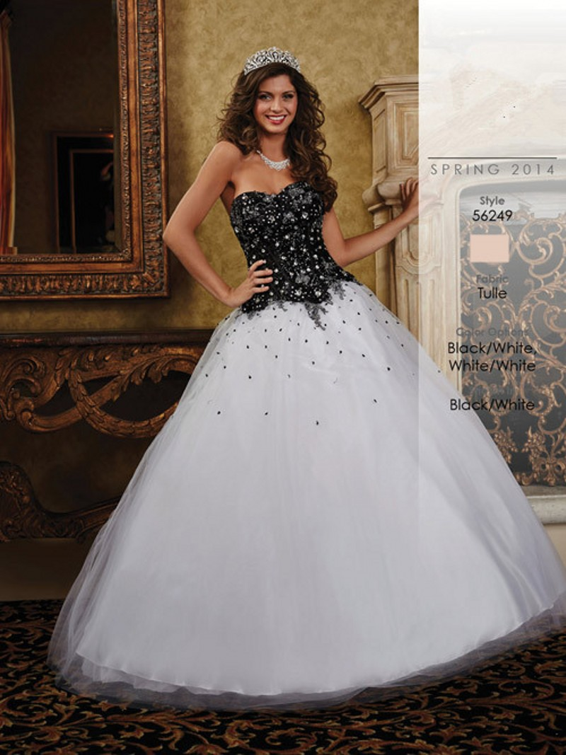 Colorful Black And White Ball Gown Dresses Crest - Top Wedding Gowns ...