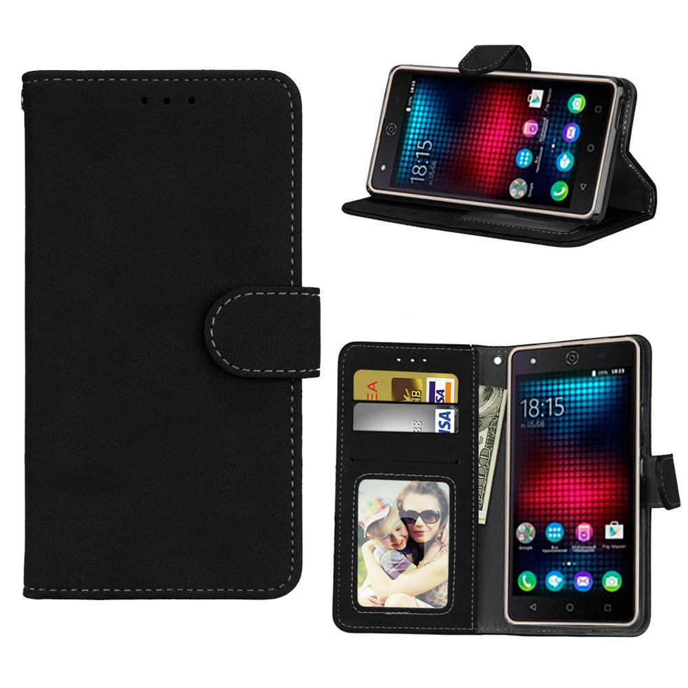 Stand Flip Leather Case For Bq 5057 5058 5059 5060 5065 5070 5201 Strike 2 Power Mobile Magic Space Wallet Case Diy Painted Phone Bags & Cases Cellphones & Telecommunications