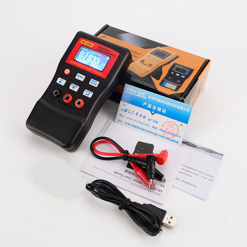 500kHz Digital Capacitance Inductance Meter AutoRanging Component Tester MLC500 LC Meter LC And RC Oscillation With SMD Clip high precision digital capacitance inductance meter auto ranging component tester 500kh lc rc oscillation inductance multimeter