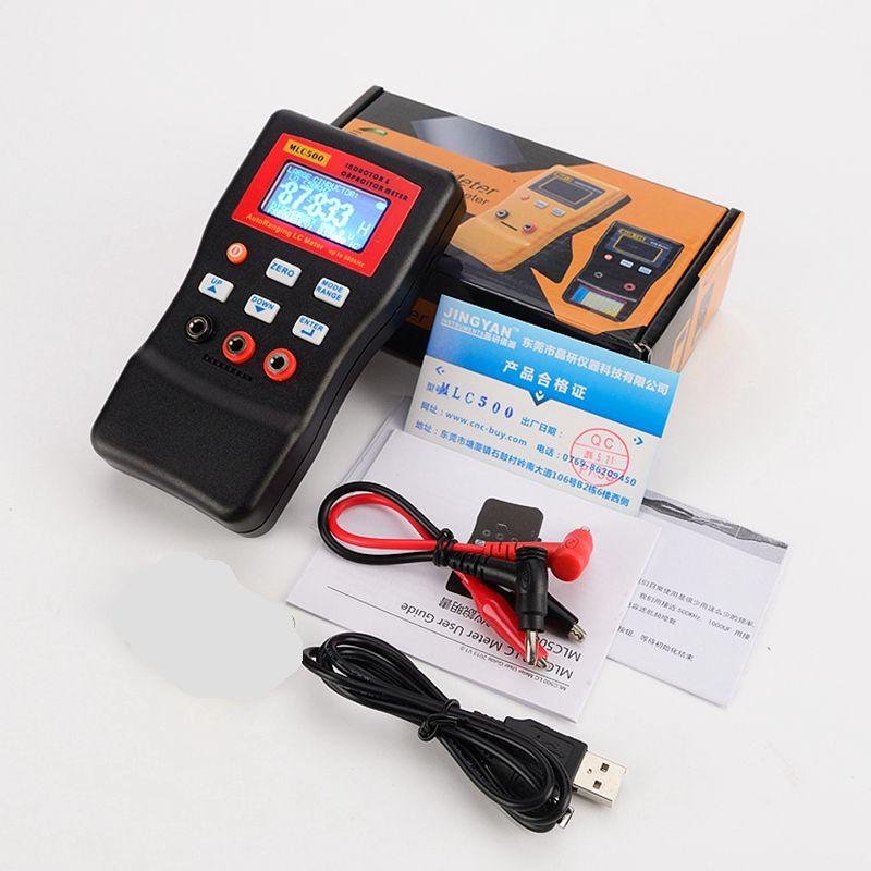 Testeur de composant d'autoranging de mètre d'inductance de capacité numérique 500 kHz MLC500 LC et Oscillation de RC avec l'agrafe de SMD