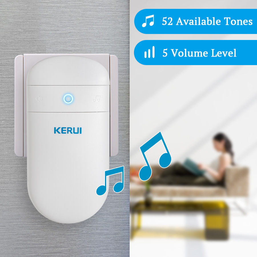 лучшая цена KERUI Adjustable Volume Levels Doorbell M518 Home Self Generation Wireless Doorbell Smart Electronic Remote Control Doorbell