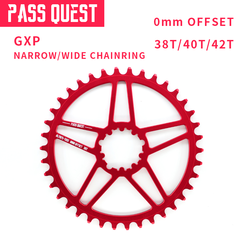 цена на PASS QUEST GXP Bicycle Crankset Chainring Gear Mountain Bike 38T 40T 42T For Sram XX1 X1 Crank set MTB 8-12 Speed Offset 0mm