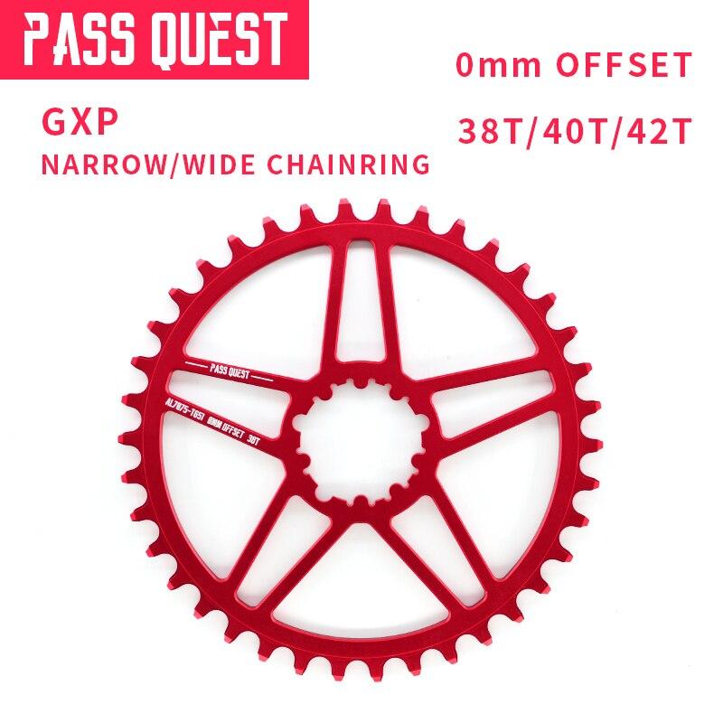 PASSER QUÊTE GXP Vélo Pédalier Plateau Vitesse Vtt 38 t 40 t 42 t Pour Sram XX1 X1 Manivelle ensemble VTT 8-12 Vitesse Offset 0mm